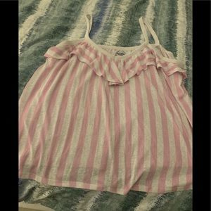 Old Navy Pink and White Striped tank